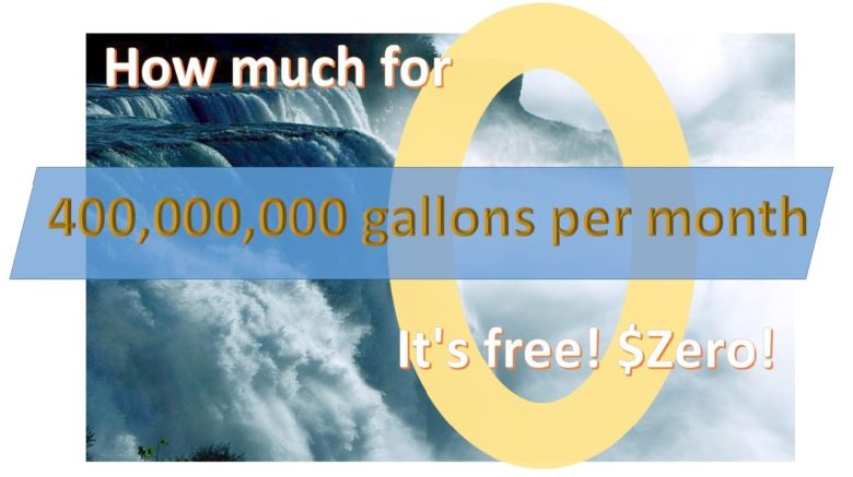 400,000,000 gallons per month at a bargain price